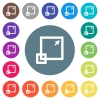 Maximize window flat white icons on round color backgrounds - Maximize window flat white icons on round color backgrounds. 17 background color variations are included.