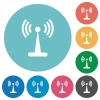 Wlan network flat round icons - Wlan network flat white icons on round color backgrounds
