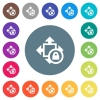 Size lock flat white icons on round color backgrounds - Size lock flat white icons on round color backgrounds. 17 background color variations are included.