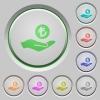 Turkish Lira earnings push buttons - Turkish Lira earnings color icons on sunk push buttons