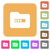 Processing folder rounded square flat icons - Processing folder flat icons on rounded square vivid color backgrounds.