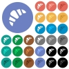 Bakery round flat multi colored icons - Bakery multi colored flat icons on round backgrounds. Included white, light and dark icon variations for hover and active status effects, and bonus shades on black backgounds.
