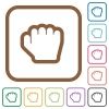 Grab cursor simple icons - Grab cursor simple icons in color rounded square frames on white background