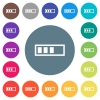 Movie processing flat white icons on round color backgrounds. 17 background color variations are included. - Movie processing flat white icons on round color backgrounds
