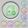 Playlist fast backward color icons on sunk push buttons - Playlist fast backward push buttons