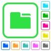Tab folder vivid colored flat icons - Tab folder vivid colored flat icons in curved borders on white background