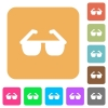 Sunglasses rounded square flat icons - Sunglasses flat icons on rounded square vivid color backgrounds.