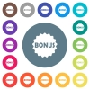 Bonus sticker flat white icons on round color backgrounds - Bonus sticker flat white icons on round color backgrounds. 17 background color variations are included.