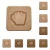 Grab cursor wooden buttons - Grab cursor on rounded square carved wooden button styles