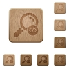 Search programming code wooden buttons - Search programming code on rounded square carved wooden button styles