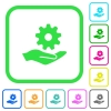 Maintenance service vivid colored flat icons - Maintenance service vivid colored flat icons in curved borders on white background