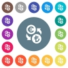 Euro Lira money exchange flat white icons on round color backgrounds - Euro Lira money exchange flat white icons on round color backgrounds. 17 background color variations are included.