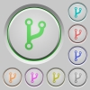 Code fork push buttons - Code fork color icons on sunk push buttons