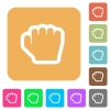 Grab cursor rounded square flat icons - Grab cursor flat icons on rounded square vivid color backgrounds.