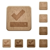 Successfully saved wooden buttons - Successfully saved on rounded square carved wooden button styles