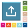 Upload symbol white icons on edged square buttons - Upload symbol white icons on edged square buttons in various trendy colors