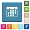 Hanging calendar white icons on edged square buttons - Hanging calendar white icons on edged square buttons in various trendy colors