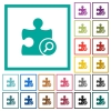 Find plugin flat color icons with quadrant frames - Find plugin flat color icons with quadrant frames on white background