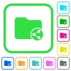 Share directory vivid colored flat icons - Share directory vivid colored flat icons in curved borders on white background
