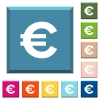 Euro sign white icons on edged square buttons - Euro sign white icons on edged square buttons in various trendy colors