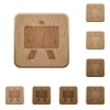 Blackboard on rounded square carved wooden button styles - Blackboard wooden buttons