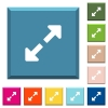 Resize full white icons on edged square buttons - Resize full white icons on edged square buttons in various trendy colors