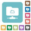 Cloud FTP rounded square flat icons - Cloud FTP white flat icons on color rounded square backgrounds