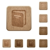 Album on rounded square carved wooden button styles
