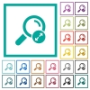 Extending search results flat color icons with quadrant frames - Extending search results flat color icons with quadrant frames on white background