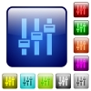 Adjust color square buttons - Adjust icons in rounded square color glossy button set