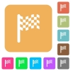 Race flag rounded square flat icons - Race flag flat icons on rounded square vivid color backgrounds.