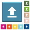 Upload white icons on edged square buttons - Upload white icons on edged square buttons in various trendy colors