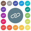 Paperclip flat white icons on round color backgrounds - Paperclip flat white icons on round color backgrounds. 17 background color variations are included.