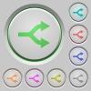 Split arrows push buttons - Split arrows color icons on sunk push buttons