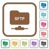 FTP over SSH simple icons - FTP over SSH simple icons in color rounded square frames on white background