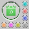 Find schedule item color icons on sunk push buttons - Find schedule item push buttons