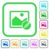 Edit image vivid colored flat icons - Edit image vivid colored flat icons in curved borders on white background