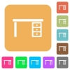 Drawer desk rounded square flat icons - Drawer desk flat icons on rounded square vivid color backgrounds.