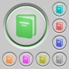 Album push buttons - Album color icons on sunk push buttons
