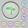 Signpost push buttons - Signpost color icons on sunk push buttons