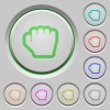 Grab cursor push buttons - Grab cursor color icons on sunk push buttons