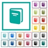 Album flat color icons with quadrant frames - Album flat color icons with quadrant frames on white background