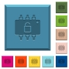 Hardware unlocked engraved icons on edged square buttons - Hardware unlocked engraved icons on edged square buttons in various trendy colors