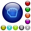 Grab cursor color glass buttons - Grab cursor icons on round color glass buttons