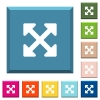Resize full alt white icons on edged square buttons in various trendy colors - Resize full alt white icons on edged square buttons