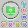 Protected FTP push buttons - Protected FTP color icons on sunk push buttons