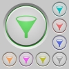 Funnel push buttons - Funnel color icons on sunk push buttons