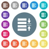 Adjust line spacing flat white icons on round color backgrounds - Adjust line spacing flat white icons on round color backgrounds. 17 background color variations are included.