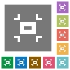 Small screen square flat icons - Small screen flat icons on simple color square backgrounds