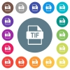 TIF file format flat white icons on round color backgrounds. 17 background color variations are included. - TIF file format flat white icons on round color backgrounds